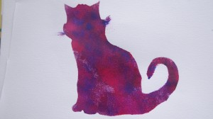 puurple cat