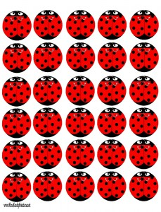 Lady Bug cutout
