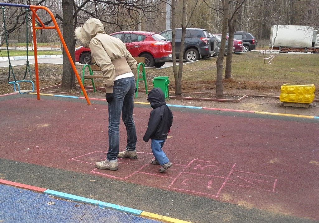 we play hopscotch