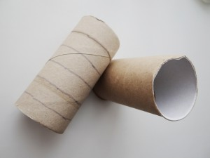 toilet roll tube - body of a bee